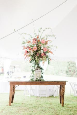 Large Pink Peony Wedding Flower Arrangement