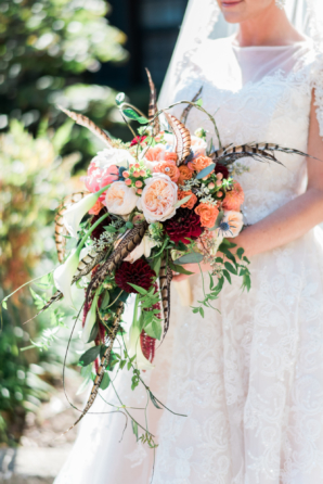 Peach and Coral Fall Bouquet