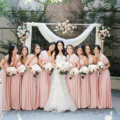Pink Convertible Bridesmaids Dresses