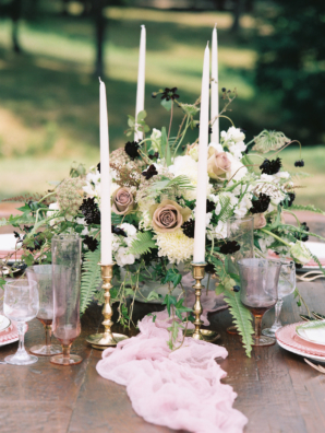 Romantic Mauve and Gold Wedding