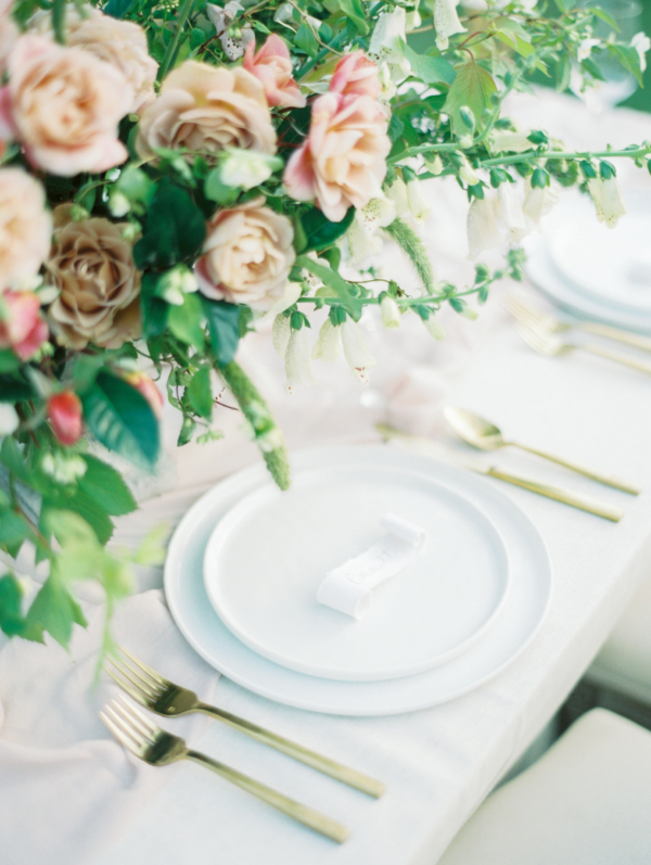 Romantic Pink and Green Centerpiece 1