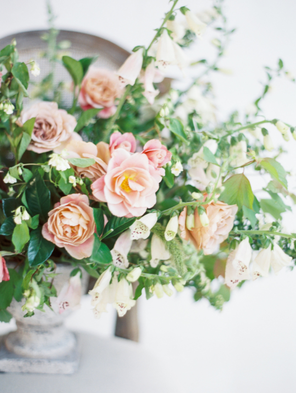 Romantic Pink and Green Centerpiece 3