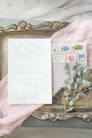 Vintage Stamps on Clear Envelope