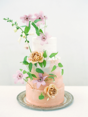 Whimsical Wedding Cake with Orchids