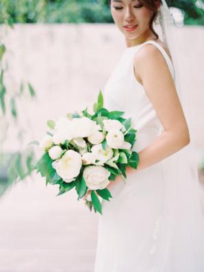 White Peony Bride Bouquet