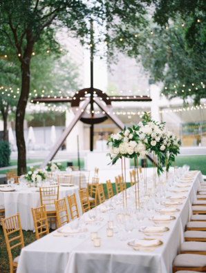 White and Gold Outdoor Wedding