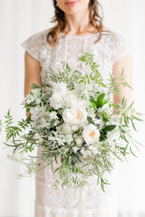 Blush and Green Organic Bouquet