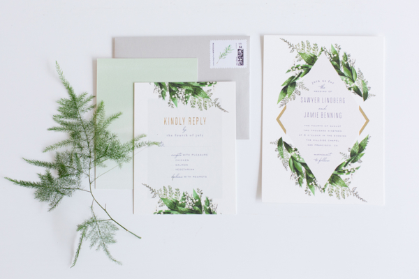 Botanical Wedding Invitations from Minted