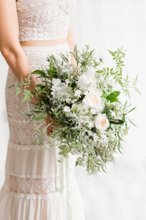 Bouquet of Greenery and Garden Roses