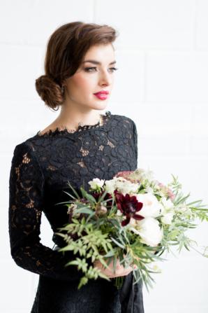 Bridesmaid in Black Lace
