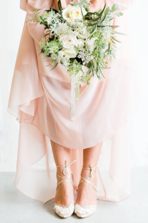 Bridesmaid in Lace Shoes