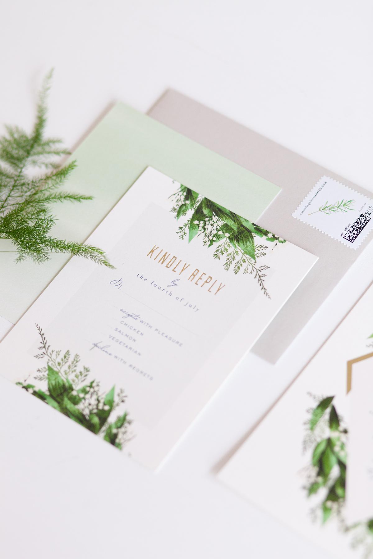 Diamante Wedding Invitations from Minted - Elizabeth Anne Designs ...