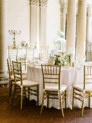 Elegant Gold and Ivory Wedding in Pasadena