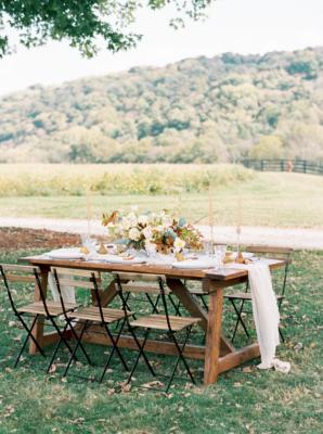 Elegant Rustic Fall Wedding Table