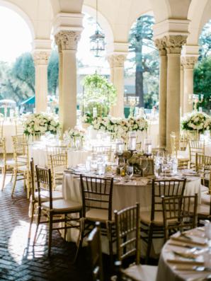 Elegant Wedding Reception on Portico