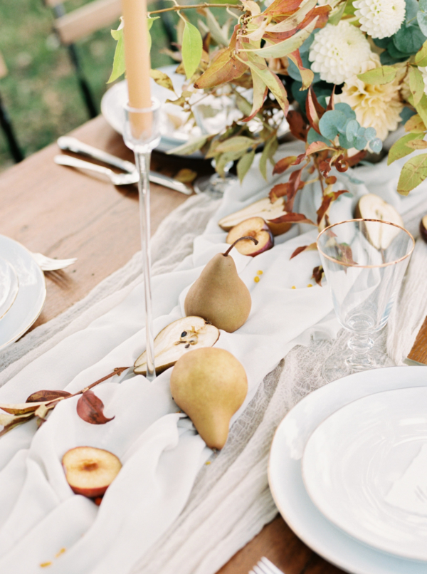 Fall Centerpiece with Pears