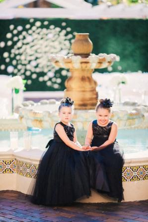 Flower Girls in Black