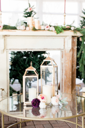 Gold and Green Winter Wedding Decorations