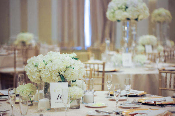 Gold and Ivory Hotel Wedding