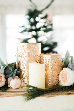 Gold and White Wedding Candles