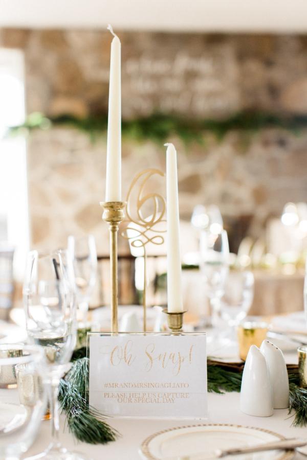 Holiday Wedding Centerpiece