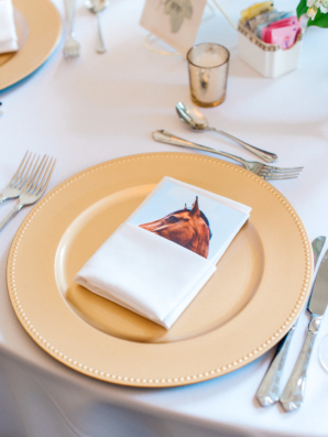 Horse Place Card for Kentucky Wedding
