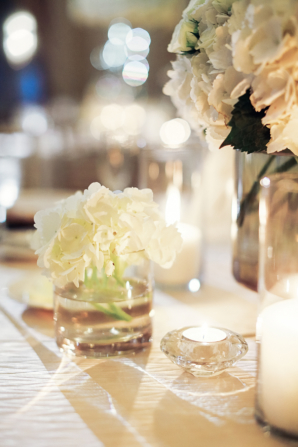 Hydrangea Centerpiece in Glass