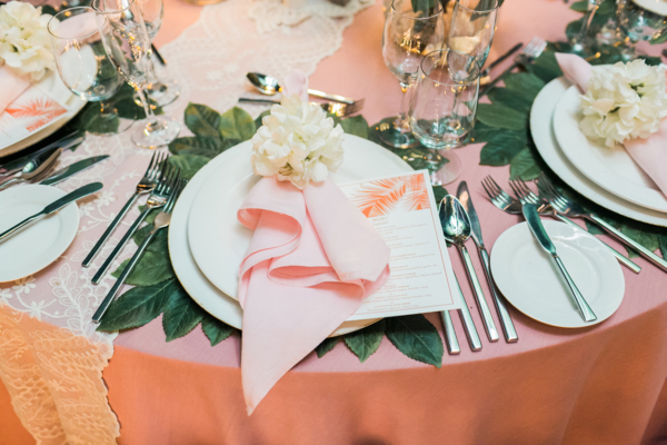 Leaf Charger for Wedding Table
