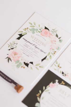 Minted Wedding Invitations with Flowers