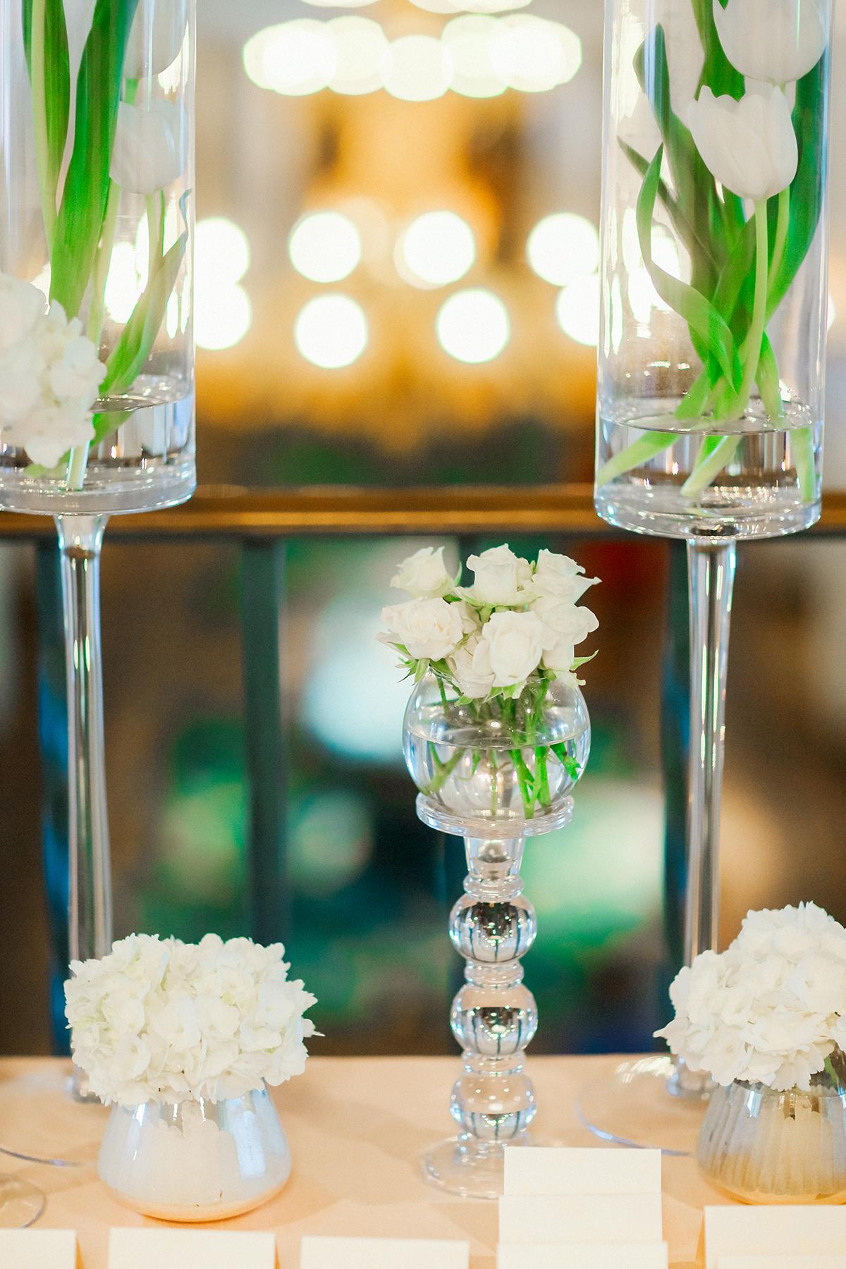 Modern White Flower Arrangements For Wedding Elizabeth Anne