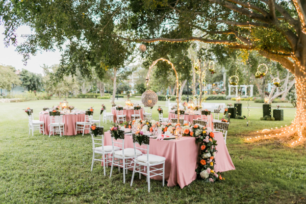 Romantic Secret Garden Wedding Reception