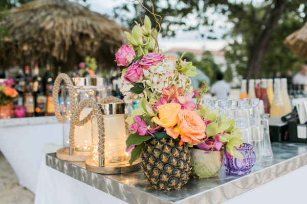 Tropical Pineapple Wedding Decoration