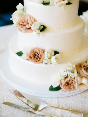 Wedding Cake with Garden Roses