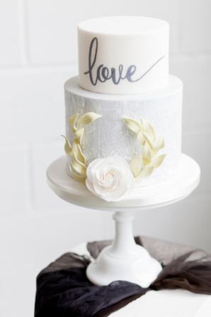 Wedding Cake with Love Script
