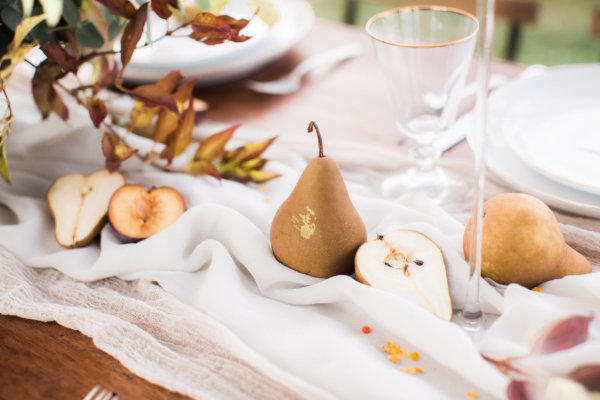 Wedding Centerpiece with Pears