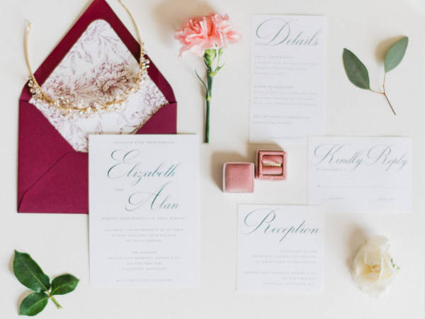 Wedding Invitations with Red Envelope