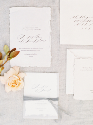 Wedding Invitations with Torn Edges