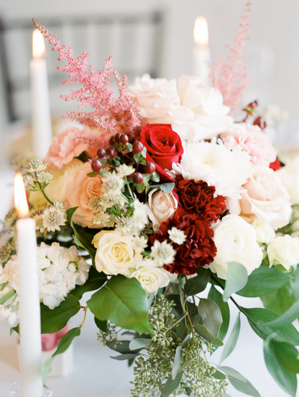 White and Red Centerpiece