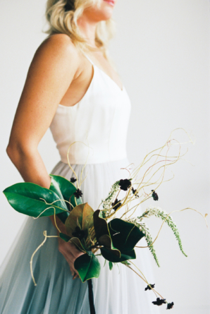 Atypical Bouquet with Magnolia Leaf