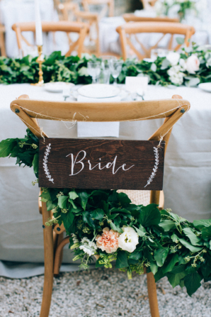 Bride Wooden Sign for Chair
