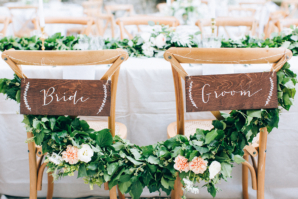 Bride and Groom Chairs with Garland