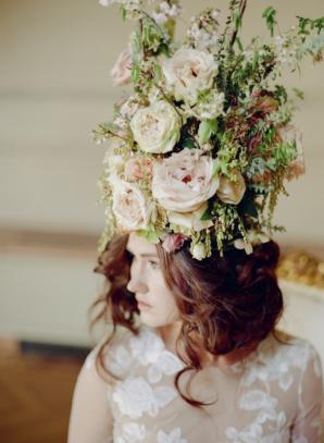 Bride as Marie Antoinette