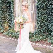 Bride in Crochet Gown