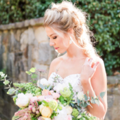 Bride with Messy Updo