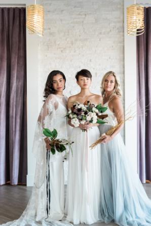 Brides in Pastel Gowns
