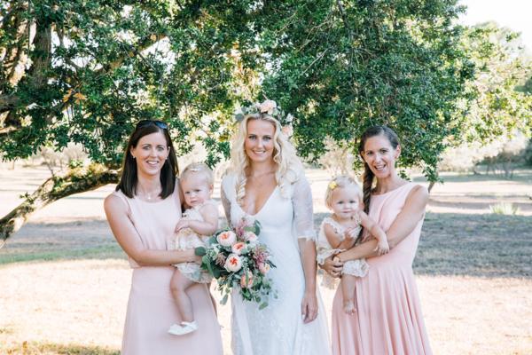 Bridesmaids with Toddler Flower Girls