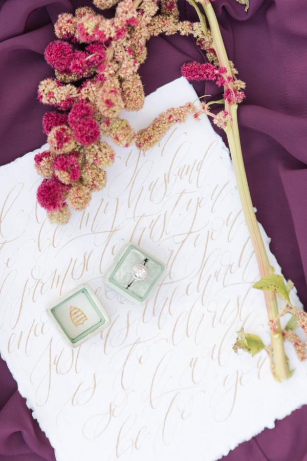 Calligraphy Wedding Vows