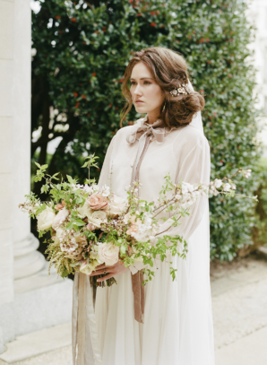 Couture Bride in Ivory and Mauve