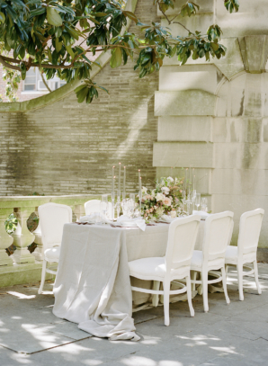 Elegant Outdoor Estate Wedding Table