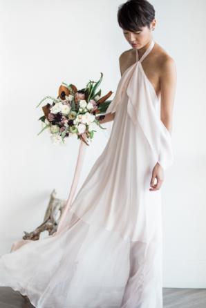Floaty Halter Wedding Gown